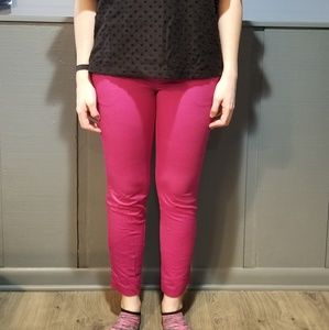 Pink Fitted Ankle Pant